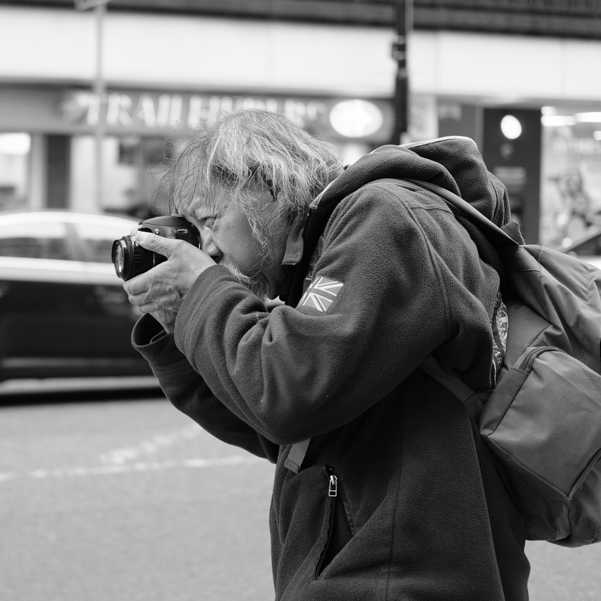 People of Manchester - man taking picture